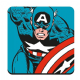 Captain America (action) single drinks mat/coaster  (hb) (1)